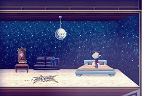 Disco bedroom...