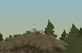 Secret meeting behind the tree :)