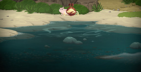 the meditating crab and his pig