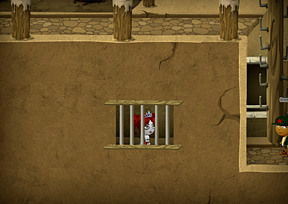 In jail with a watch guard