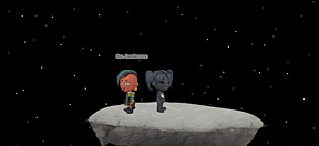 Two besties spending the end of the world on the moon.