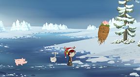kitty on ice!