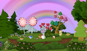 candy, booze and rainbows.  What more could a girl want?